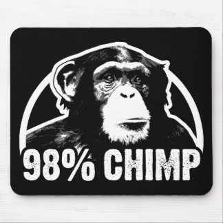 98 Percent Chimp Mouse Pad
