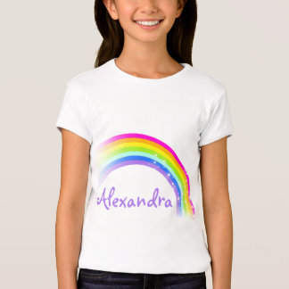 9 letter name rainbow violet girls top tee shirts