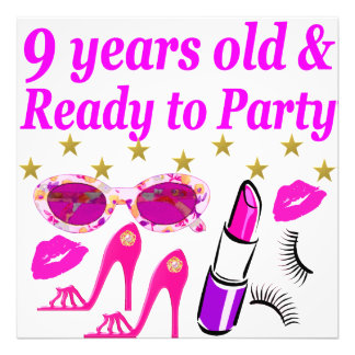 9 YRS OLD AND READ Y TO PARTY LITTLE DIVA DESIGN PHOTO