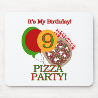 9th Pizza Party Birthday Mouse Pad