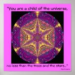 """A04 """"Child of the Universe"""" - Desiderata Poster"""