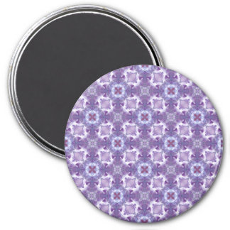A abstract purple orchids Pattern. 7.5 Cm Round Magnet