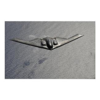 A B-2 Spirit flies over the Pacific Ocean Photo