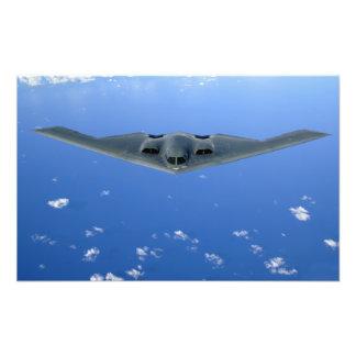 A B-2 Spirit soars through the sky Art Photo