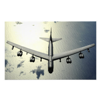 A B-52 Stratofortress in flight Photo Art