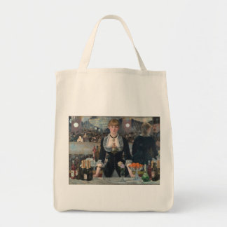 A Bar at the Folies-Bergère by Édouard Manet Grocery Tote Bag