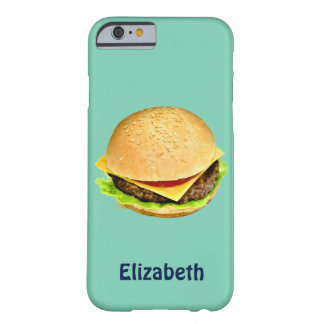 A Big Juicy Cheeseburger Photo Personalized Barely There iPhone 6 Case