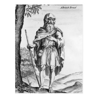 A British Druid, engraved by van der Gucht, 1723 Postcard