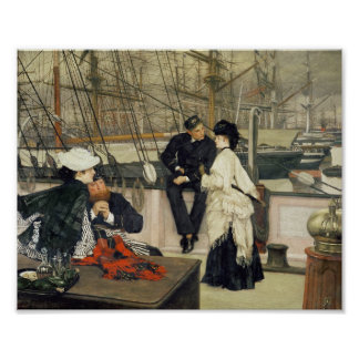 A Captain and First Mate Entertaining the Ladies Poster