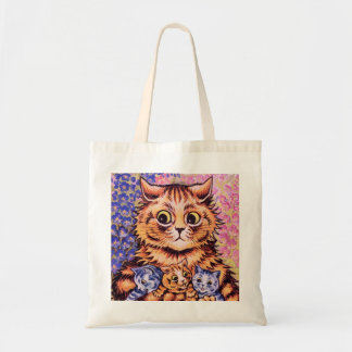 A Cat with her Kittens by Louis Wain Budget Tote Bag
