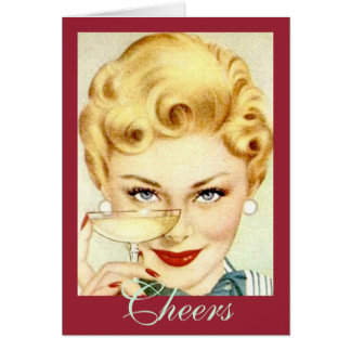 A Champagne Toast Vintage-Inspired Birthday Card