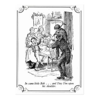A Christmas Carol: Little Bob & Tiny Tim Postcard