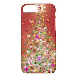 A Christmas tree that glows. iPhone 7 Case