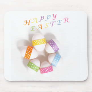 A Circle of Decorated Easter Eggs Mouse Pad