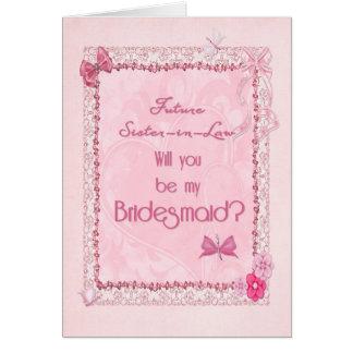 A craft look Bridesmaid invitation Greeting Card