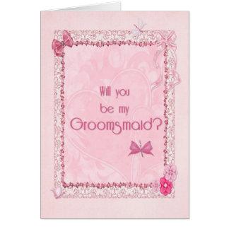 A craft look Groomsmaid invitation Greeting Card