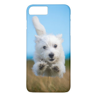 A Cute West Highland Terrier Puppy Running iPhone 7 Plus Case