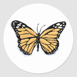 A Dainty Monarch Butterfly Round Sticker