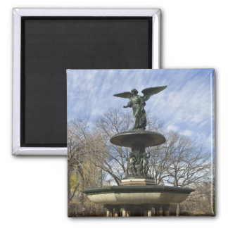 A dry winter Bethesda Fountain in Central Park Square Magnet
