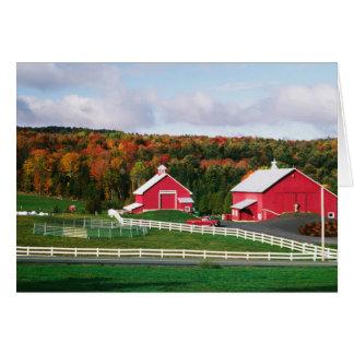 A farm in Vermont near Peacham. RELEASE Greeting Card