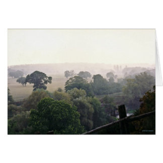A Foggy English Field Greeting Card