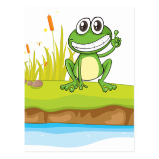 A frog and water postcard
