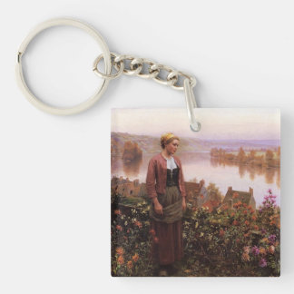 A Garden Above the Seine Double-Sided Keychain