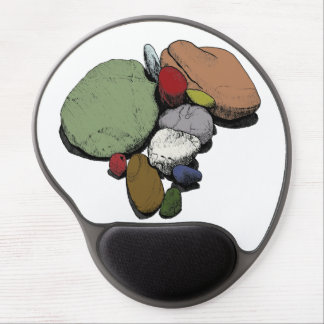 A Gathering of Coloured Stones Gel Mouse Pad