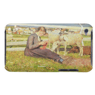 A Girl Knitting, 1888 (oil on canvas) Case-Mate iPod Touch Case