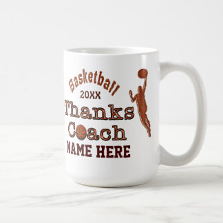A Great Gift to Give to Your Basketball Coach Basic White Mug