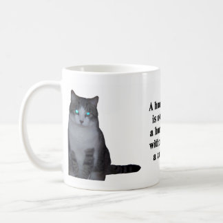 A House is Not a Home Without a Cat Basic White Mug