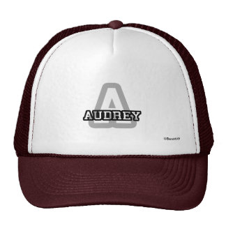 A is for Audrey Cap
