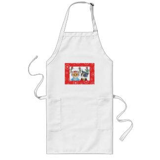 A kiss under the mistletoe long apron