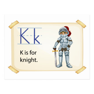 A letter K for knight Postcard
