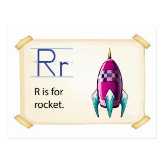 A letter R for rocket Postcard