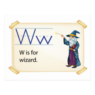 A letter W for wizard Postcard