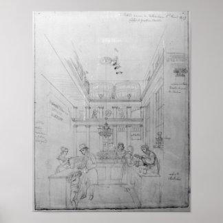 A London Liquor Shop, 1839 Poster