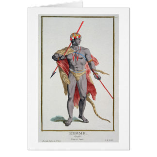 A Man from the Caribbean, 1780 (coloured engraving Greeting Card