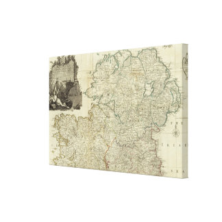 A map of the Kingdom of Ireland Northern section Canvas Prints