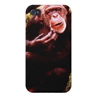 A messed up looking chimp. iPhone 4/4S cases