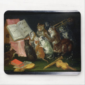 A Musical Gathering of Cats Mouse Pad