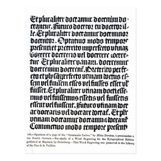 A page of the 'Grammaire Latine' Postcard