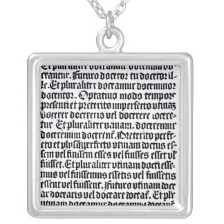 A page of the 'Grammaire Latine' Square Pendant Necklace