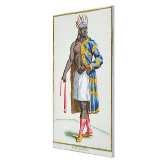 A Patagonian Man, 1780 (coloured engraving) Gallery Wrap Canvas