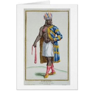 A Patagonian Man, 1780 (coloured engraving) Greeting Card