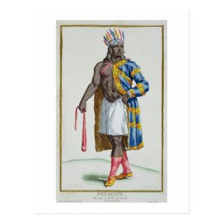 A Patagonian Man, 1780 (coloured engraving) Postcard
