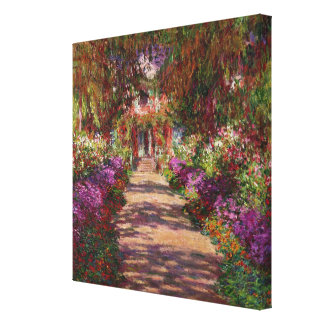 A Pathway in Monet's Garden, Giverny, 1902 Canvas Print