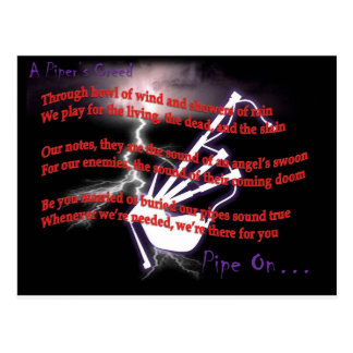 A Piper's Creed (Lightning) Postcard