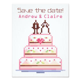 a pixel wedding ♥ 11 cm x 14 cm invitation card