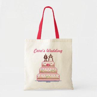 a pixel wedding ♥ budget tote bag